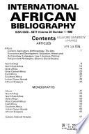 International African Bibliography