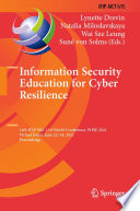Information Security Education for Cyber Resilience