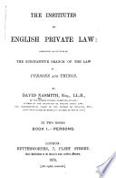 The Institutes Of English Private Law Book PDF