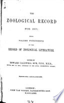 The Zoological Record0 Book