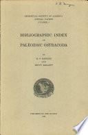 Bibliographic Index Of Paleozoic Ostracoda