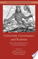 University Governance And Reform