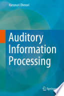 Auditory Information Processing Book