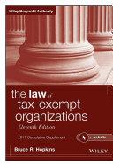 The Law of Tax-Exempt Organizations + Website, 2017 Cumulative Supplement