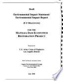 Matilija Dam Ecosystem Resoration Feasibility Study