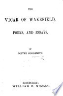 The Vicar of Wakefield  Poems  and Essays