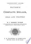 Watson's Complete Speller