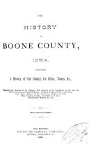 The History of Boone County  Iowa