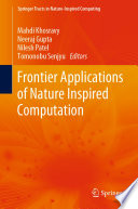 Frontier Applications of Nature Inspired Computation Book