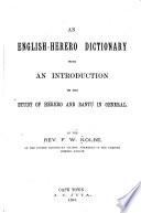 An English Herero Dictionary Book PDF