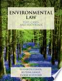 Environmental Law  Text  Cases   Materials Book