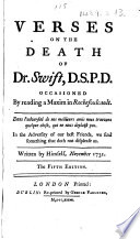 Verses on the Death of Dr. Swift ... The fifth edition