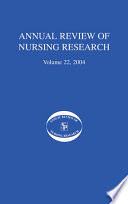 Annual Review Of Nursing Research Volume 22 2004