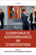 Corporate Governance in Contention [Pdf/ePub] eBook