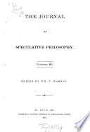 The Journal Of Speculative Philosophy, 1867-1893