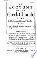 An Account Of The Greek Church