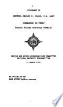 Department of Defense Appropriations for 1999: Secretary of and Chief of Staff of the Army