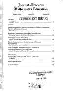 Journal for Research in Mathematics Education Book