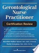 Gerontological Nurse Practitioner Certification Review Book PDF