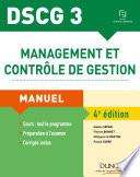 DSCG 3 - Management et contrôle de gestion - 4e éd.