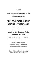 Annual Report of the Tennessee Public Service Commission for the Year