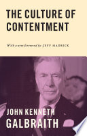 The Culture of Contentment Book