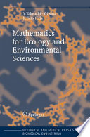 Book Cover: Mathematics to Ecology and Environmental Sciences
