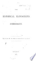 The Historical Manuscripts Commission Reprinted From The Law Magazine And Law Review For August