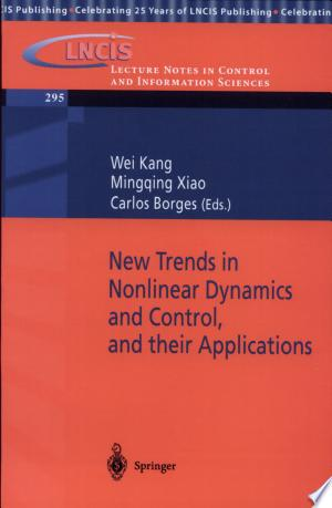 Download New Trends in Nonlinear Dynamics and Control, and their Applications online Books - godinez books