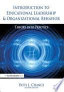 Introduction to Educational Leadership   Organizational Behavior