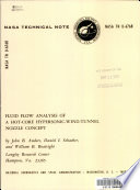 Fluid Flow Analysis of a Hot core Hypersonic wind tunnel Nozzle Concept Book
