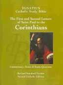 The First and Second Letter of St  Paul to the Corinthians  2nd Ed    Ignatius Catholic Study Bible