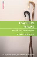 Teaching Psalms Vol  1