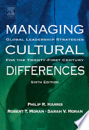 Managing Cultural Differences Book