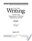 NAEP     Writing Report for Department of Defense Dependents Schools Book PDF