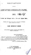 Regulations For The Army Of The Confederate States 1864
