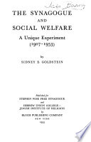 The Synagogue and Social Welfare