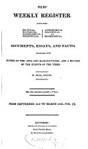 Niles Weekly Register Fromseptember 1815 To March 1816 Vol Ix Book PDF