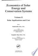 Econs of Solar Energy & Conservation Sys