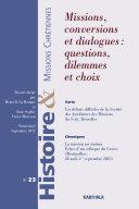 Pdf Histoire et Missions Chrétiennes N-023. Missions, conversions et dialogues : questions, dilemmes et choix Telecharger