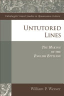 Untutored Lines: The Making of the English Epyllion