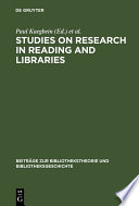 Studies On Research In Reading And Libraries