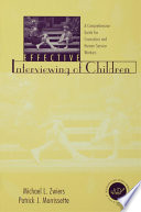 Effective Interviewing of Children Book