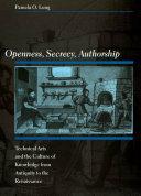 Openness, Secrecy, Authorship Pdf/ePub eBook