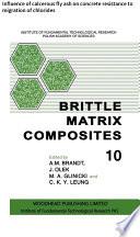 Brittle Matrix Composites Book