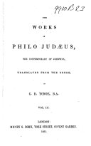 The Works of Philo Judaeus, the Contemporary of Josephus