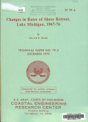 Changes in Rates of Shore Retreat  Lake Michigan  1967 76