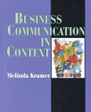 Business Communication In Context