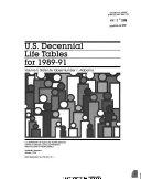 U S Decennial Life Tables For 1989 91 No 1