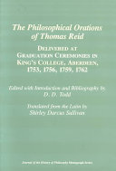 The Philosophical Orations of Thomas Reid